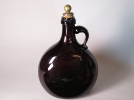 #1682  Early 19th Century Glass Flagon, circa 1830