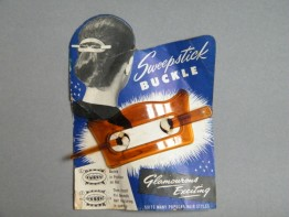 "#0468 Plastic ""Sweepstick"" Hair Buckle on Original Card circa 1940-1950 **SOLD**"