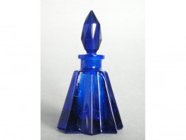 "#0579 Art Deco Cobalt Blue Perfume Bottle, circa 1920-1940 ""SOLD"""