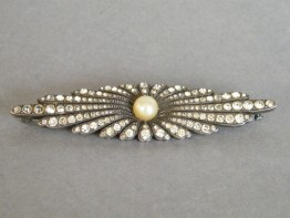 #0535 Art Deco 935 Silver Diamante Brooch **SOLD**