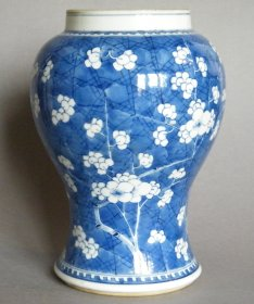 #1514  17th Century Chinese Prunus Pattern Baluster Vase Kangxi (1662-1722)  *Price on Request*