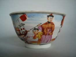#0130  18th Century Famille Rose Chinese Export Tea Bowl **Sold** to Hong Kong, July 2009 售至香港 - 2009年7月