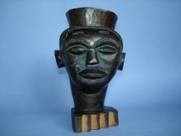 #0004  Early 20th Century Kuba Palm Wine Cup from the Congo
