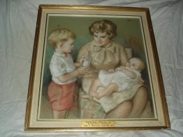 #0033 Signed Dorothy Colles (1907-2003) Pastel Drawing -1965