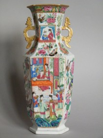 #0783  Early 19th Century Famille Rose Vase Jiaqing 1795-1820  **Price on Request**