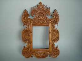 #1531  Early 19th Century Carved Chinese Export Mirror Frame  **Sold** to China - July 2011 售至中国 - 2011年7月