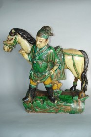 #0342  Ming Dynasty Roof Ridge Tile Horse & Groom (1368 -1644) *Price on Request*