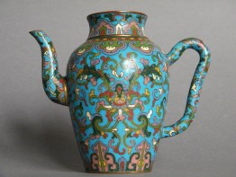 #0151  Rare Early 18th Century Chinese Cloisonne Enamel Ewer  **Price on Request**