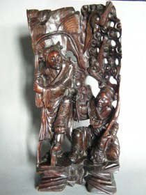 #1026  Rare 18th/19th Century Chinese Carved Hardwood Sculpture - Hehe Erxian  **Price on Request 售价待询**