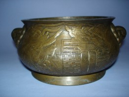 #0094 18th/19th Century Chinese Bronze Censer **Sold**to Germany - May 2010 售至德国 - 2010年5月