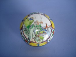 #0083 18thCentury Chinese Canton Enamel Box Qianlong Mark and Period (1736-1795) **Sold**Sold to USA - June 2011 售至美国 - 2011年6月