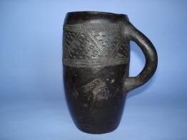 #0095 Rare Zulu Pottery Beer Mug c1920-1960 **Sold** through our Liverpool Shop, 2017