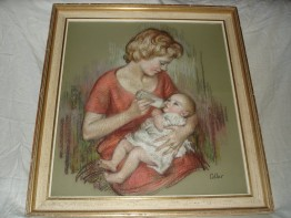 #0171 Dorothy Colles Pastel Portrait circa 1963 - signed