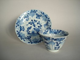 #0180 Blue & White Chinese Export Cup Saucer - Kangxi Reign (1662-1722) **Sold** through our Liverpol shop July 2008 店内售出 - 2008年7月