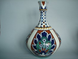"#0186 Rare 1920s Bursley Ware ""Bagdad"" vase, designed by Frederick Rhead  **Sold**  February 2019"