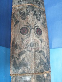 #1149 Large Dayak Headhunter's War Shield from Borneo, circa 1850-1920  **Sold**  February 2018