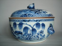 #0190 Large Circular Chinese Export Tureen circa 1750 **Sold** through our Liverpool shop August 2008 店内售出 - 2008年 8月