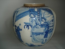 #0193 Fine & Rare late 17th Century Jar - Kangxi Reign (1662-1722) **Sold** to Switzerland - January 2009 售至瑞士 - 2009年1月