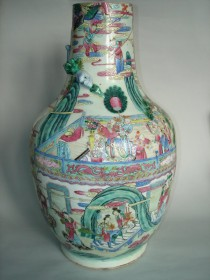 #0197  Large Chinese Falangcai Vase - Daoguang Reign (1821-1850) **Sold** through our Liverpool shop - September 2012 利物浦店内售出 - 2012年9月