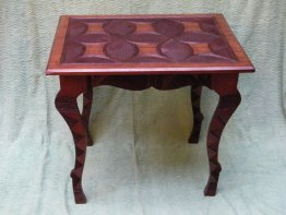 #0300 West African Carved Hardwood Table from Nigeria circa 1920-1950 * Sold to China - June 2013 售至中国 - 2013 年6月*