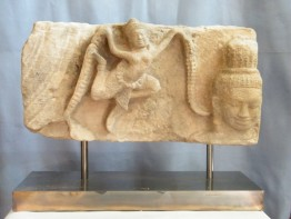 #0818  Khmer Sandstone Relief Angkor Period 12th-13th Century  **Sold**  through our Liverpool shop - September 2012 利物浦店内售出 - 2012年9月