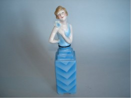 #0017 1920s - 30s Art Deco Scent Bottle **SOLD**