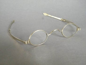 #1638  Cased Early Victorian Spectacles with Rock Crystal Lenses by John Holmes, London, circa 1838  **Sold**  August 2018