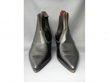 #0196 Original Leather Italian Style Cuban Heeled Winkle Picker Boots, circa 1960, Size 2  **Sold** to The Netherlands March 2020