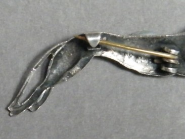 #0891 Art Deco Silver Greyhound Brooch, circa 1930s **SOLD**