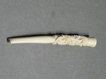 "#1403 Ladies Ivory Cigarette Holder from China, circa 1920 -1940 **Sold"""" March 2017"