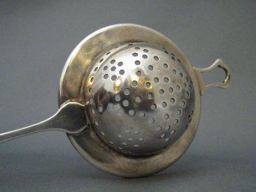#1686   Sterling Silver Tea Strainer, London 1919
