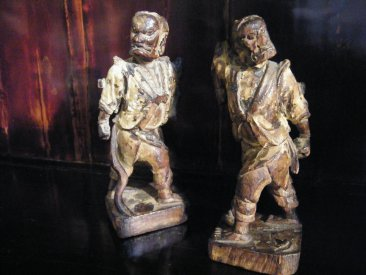 #1750  Chinese Wood Celestial Guardian Figures, Ming Dynasty (1368-1644)  **SOLD**  August 2018 / 利物浦店内售出 - 2018年8月