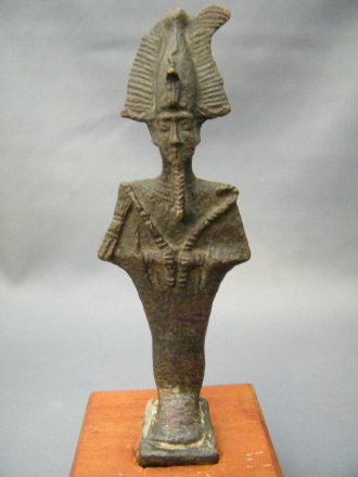#1775  Ancient Egyptian Bronze Osiris, Late Dynastic Period (712 to 332 BC)  **Sold** February 2020