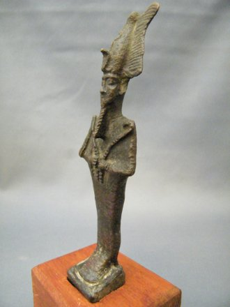 #1775  Ancient Egyptian Bronze Osiris, Late Dynastic Period (712 to 332 BC)