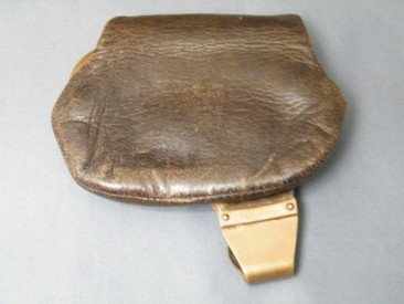 #0641 Victorian Gentleman's Leather Coin Purse, circa 1898 **SOLD** through our Liverpool shop October 2017