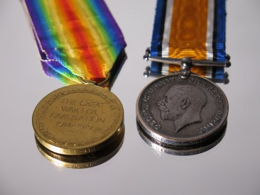 #1407 Set of First World War (1914-1918) Medals **SOLD** 2017