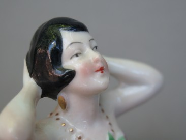 #1540 Art Deco Porcelain Pincushion Doll, circa 1930  **SOLD** in our LIiverpool shop, April 2017