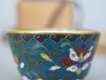 #1539  Rare Chinese Ming Dynasty Cloisonne Enamel Wine Cup, Wanli (1578-1619)   **Price on Request**
