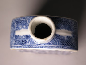 #1508 Blue & White Chinese Export Porcelain Tea Cannister, Qianlong Reign (1736 - 1795)  **SOLD**  2017