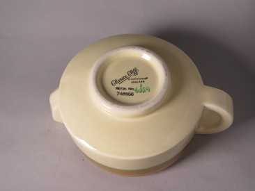 #1527  Art Deco Modernist Style Clarice Cliff Sauce Boat, circa 1929