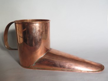 #1532 Rare Victorian or Edwardian Copper 'Kettle' or Water Warmer, circa 1875-1910