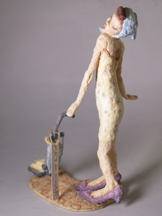 "#1552  Resin Figure ""I want to break free"" by Grant Palmer, circa 1990s **SOLD** September 2017"