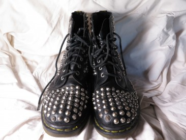 #1588  Studded Dr Martens Air Wair Boots    **SOLD** June 2017
