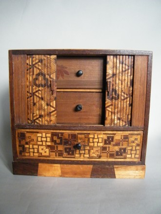 #1623  Japanese Marquetry Cabinet, Meiji Period (1868-1911)