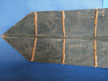 #1149 Large Dayak Headhunter's War Shield from Borneo, circa 1850-1920  **Price on Request**