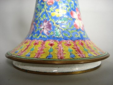 #0400  Rare 18th Century Chinese Enamel Vase - Gu - Qianlong  **SOLD** to China - November 2010 售至中国 - 2010年11月