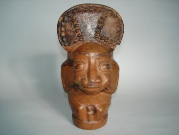 #0175 Rare Early 20th Century Terracotta Pipe Head from Cameroon