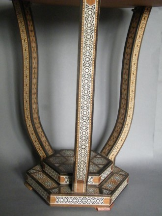#1189  Art Deco Mother of Pearl Inlaid Table from Syria, circa 1920 - 1940  **SOLD** October 2019