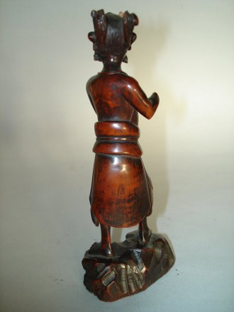 #0039 Chinese Carved Wood Figure of Kuixing - Kangxi Reign (1662-1722) **Sold** to USA  October 2007 售至美国 - 2007年10月