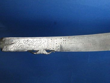 #1063  Antique Dayak Sword from Borneo, circa 1880-1910  **Sold**  to the Netherlands June 2015 售至荷兰 - 2015年 6